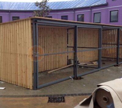 Wooden Bike Shelters