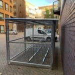 10 Space Cambridge Cycle Shelter - Side