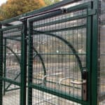 10 Space Extended Front Cycle Shelter - gas strut
