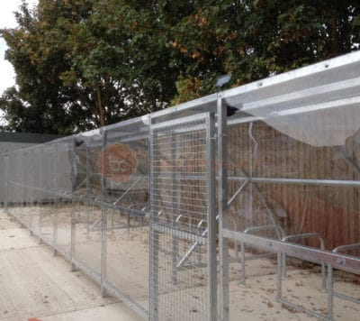 10 Space Extended Front Cycle Shelter
