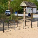 Sheffield Cycle Stand - Galv and black in sand