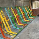 Semi Vertical Bike Rack - multi-coloured