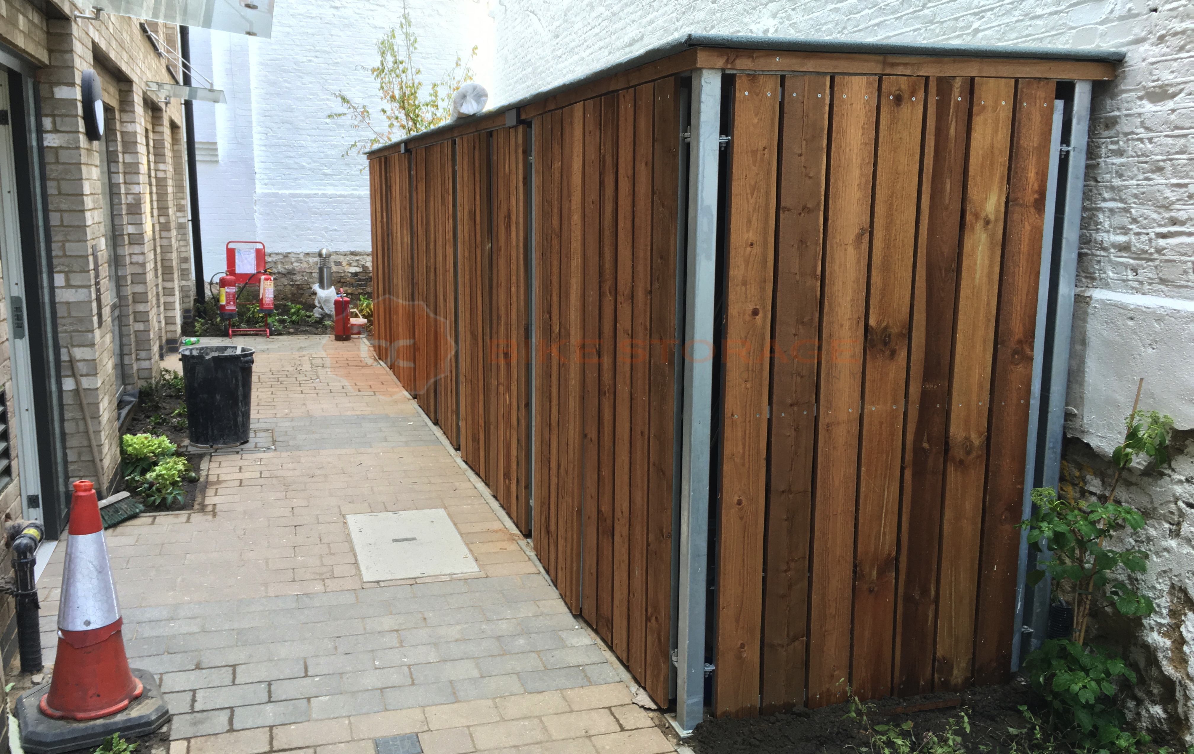 Bespoke Shelters At Bow Road The Bike Storage Company