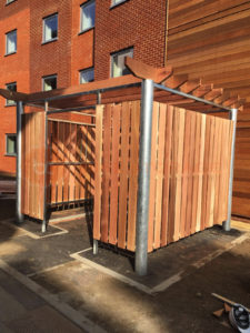 Bespoke Cedar Bin Store - University of Surrey